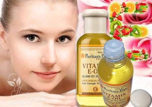 vitamin e oil có tác dụng gì trong quá trình dưỡng trắng da