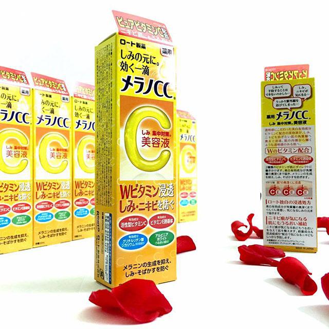 Tìm hiểu thông tin về serum vitamin c melano cc rohto